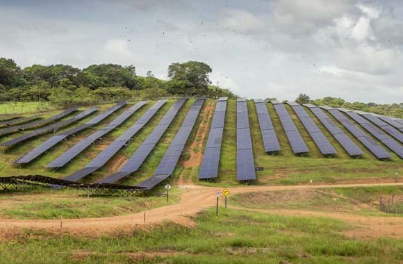 Hybrid power plant powers off grid city in amazon rainforest